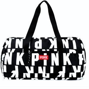 PINK VS logo duffel sport bag